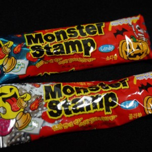 monster stamp candy
